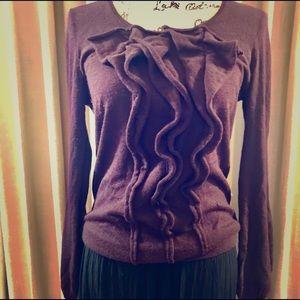 Ann Taylor Cashmere Sweater SZ S/M wine color